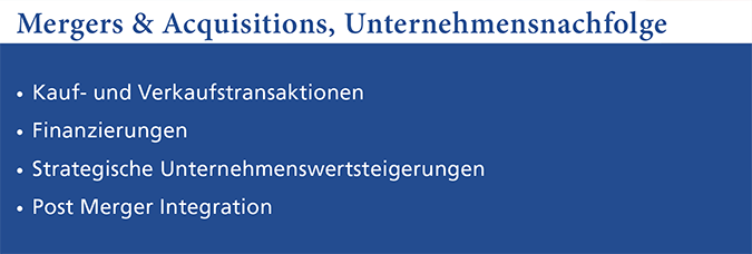 PMC Expertise Mergers & Acquisitions, Unternehmensnachfolge