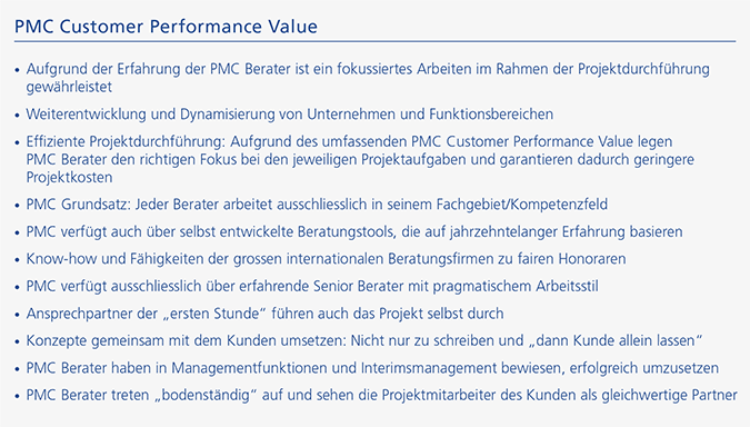 PMC Customer Performance Value